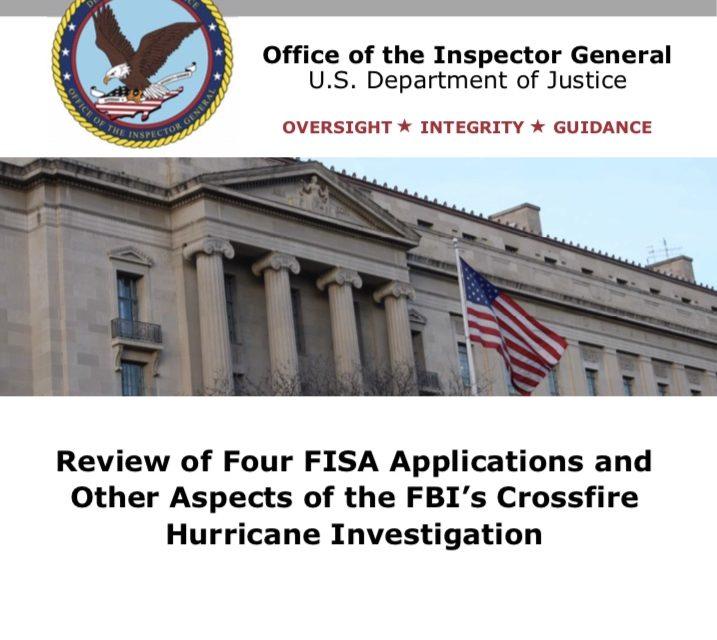 "OIG Report on ""Crossfire Hurricane"""