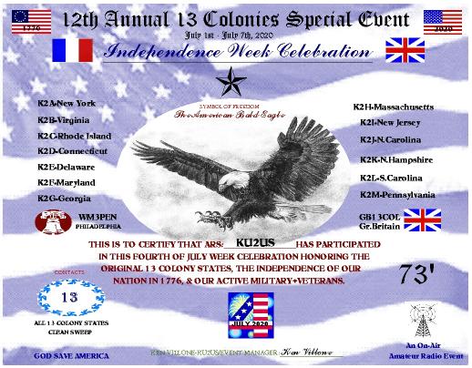 13 Colonies Amateur Radio Contest