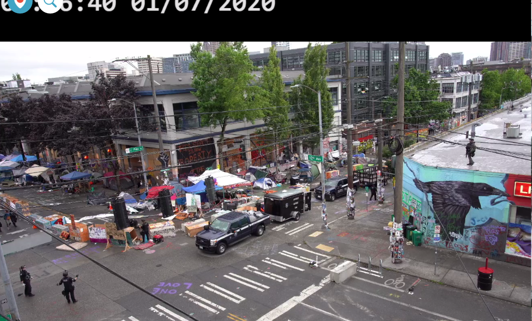 Seattle Police Move Into CHOP: Livestream