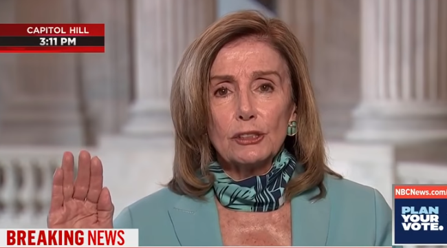 "Pelosi Refers to Republicans as ""Domestic Enemies"" on MSNBC"
