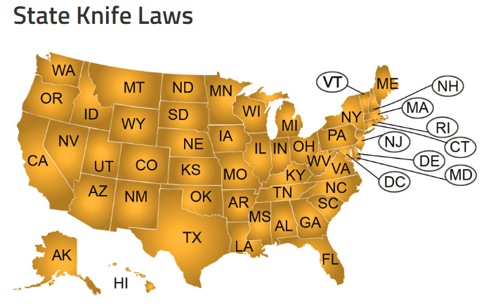 Fun Facts Wednesday – 2020 Knife Laws By State
