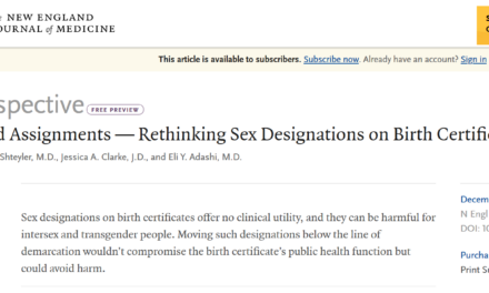 SICKENING:  OMG WTW?!  MEDICAL JOURNAL RECOMENDS NO GENDER ON BIRTH CERTIFICATES!, by DVM