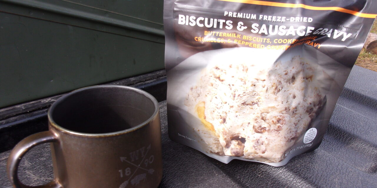 Review: Peak Refuel Freeze Dried Biscuits and Gravy