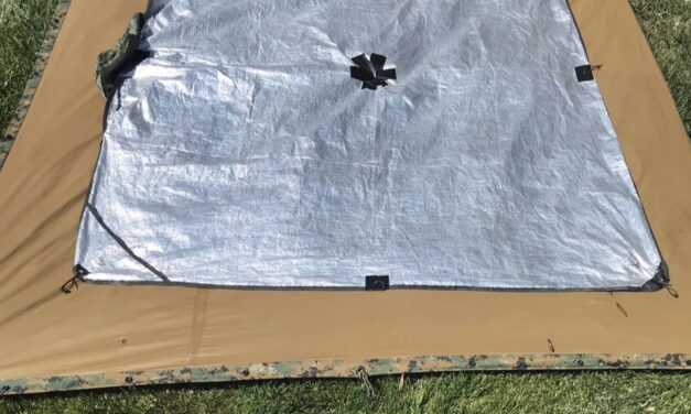 5 minute project: Add a thermal barrier to your tarp
